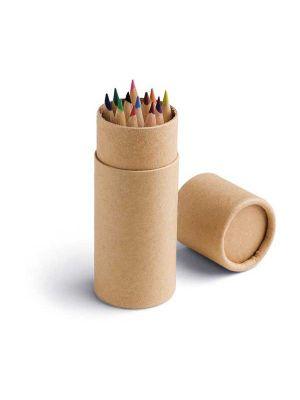 Pinturas colorear cylinder de cartón con logo imagen 1