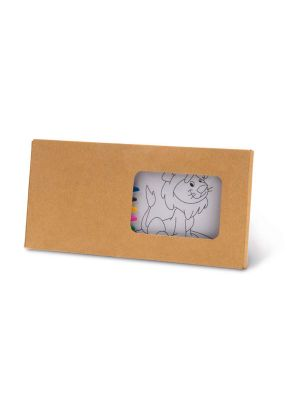 Pinturas colorear jaguar de cartón imagen 2