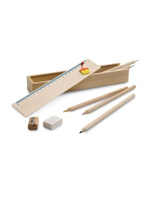Estuches doodle de madera con impresión imagen 2