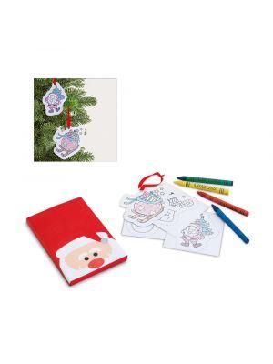 Navidad vedder. set para colorear de cartón vista 1