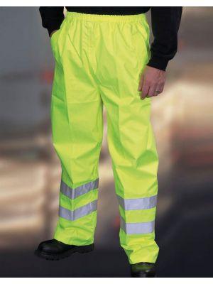 Pantalones reflectantes yoko fluo yellow con impresión vista 1