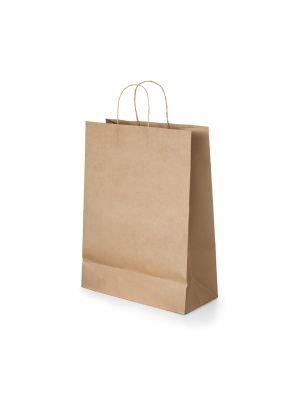 Bolsas de papel tayla de papel con publicidad vista 1