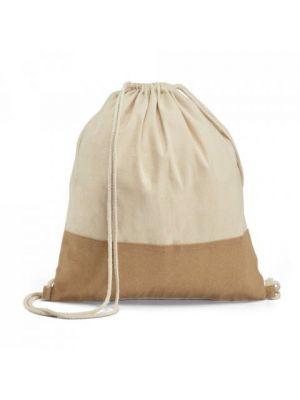 Mochila cuerdas personalizada sablon de 100% algodón ecológico con logo imagen 1