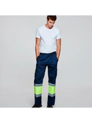 Pantalones reflectantes roly soan de algodon con logotipo imagen 1