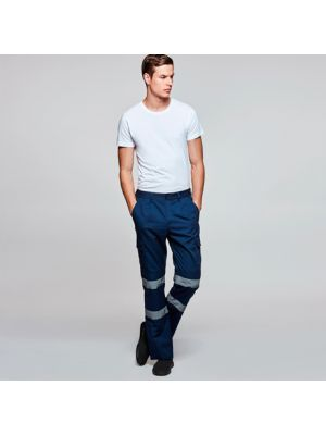 Pantalones reflectantes roly daily hv de poliéster con logotipo imagen 1