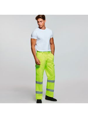 Pantalones reflectantes roly alfa de algodon con logo imagen 1