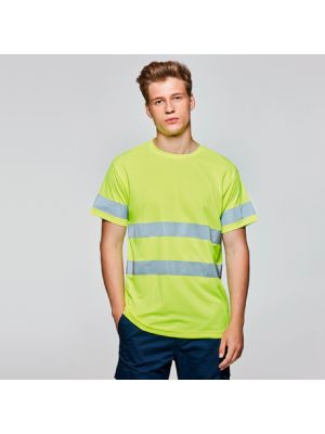 Camisetas reflectantes roly delta de poliéster con impresión vista 1