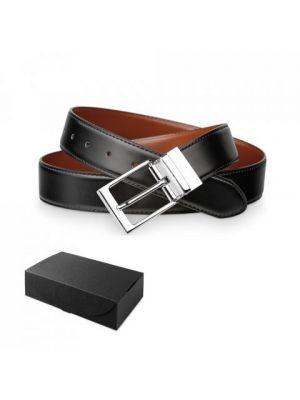 Complementos vestir malini. cinturón de caballero de piel con impresión vista 3