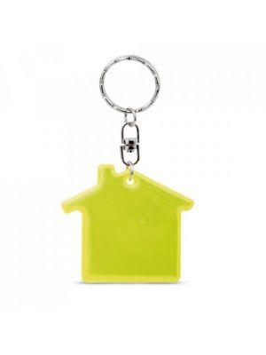 Llaveros forma casa residence con logo vista 1