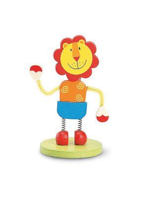Clips lion de madera con publicidad imagen 2