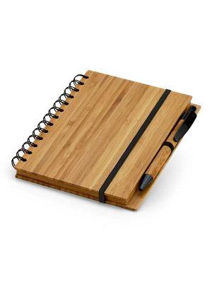 Cuadernos con anillas dickens 135x80 de bambú ecológico con publicidad imagen 2