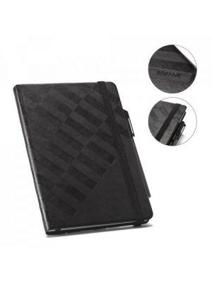 Libretas con banda elastica branve geometric notebook de polipiel para personalizar imagen 6