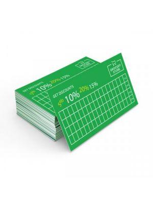 Tarjetas de visita cartulina blanca cla 315gm2 impresión una cara esquinas redondas de cartón para personalizar vista 1