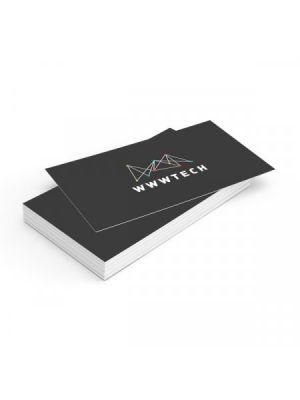 Tarjetas de visita couché brillo 350gm2 plastificado mate doble cara de papel con impresión vista 1