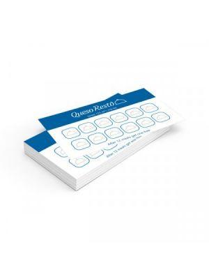 Tarjetas de visita mini couché brillo 350gm2 plastificado mate doble cara esquinas redondas de papel con impresión vista 1