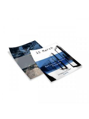 Flyers flyers a5 couché brillo 350gm2 impresión doble cara de papel imagen 1