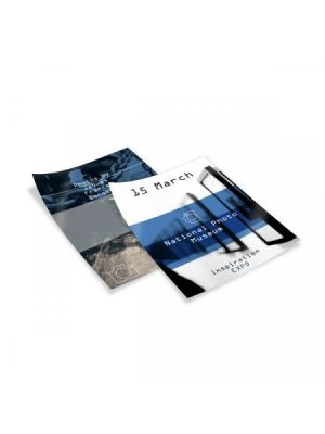 Flyers flyers a5 couché brillo 125gm2 impresión doble cara de papel imagen 1