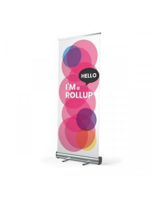 Roll ups incluye bolsa de transporte de poliéster para personalizar vista 1