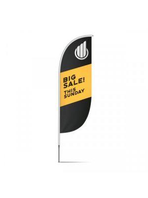 Banderas vela pequeña con publicidad vista 1
