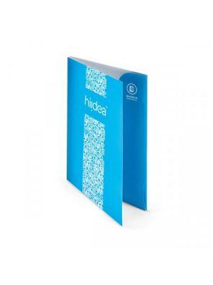 Carpetas carpeta con pestañas a4 couché mate 350gm2 impresión doble cara de papel para personalizar vista 1