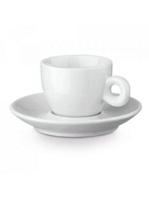 Cocina y menaje presso. vaso porcelana de porcelana con logo vista 1