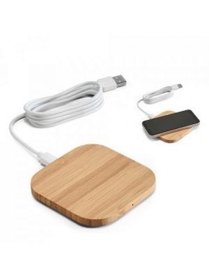 Baterias power bank power de bambú ecológico para personalizar vista 2