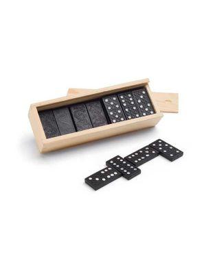 Barajas y juegos de mesa miguel. juego de dominó con logo imagen 1