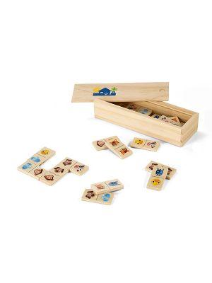 Barajas y juegos de mesa domin. juego de dominó de madera vista 1