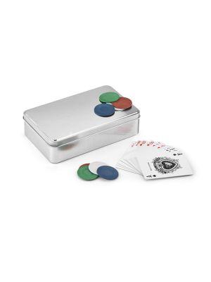 Barajas y juegos de mesa eddy. juego de póker con impresión vista 1