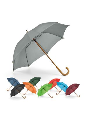 Paraguas clásicos betsey de poliéster con logo vista 2
