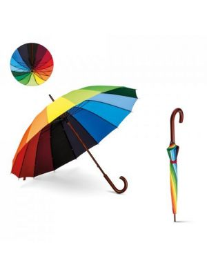 Paraguas clásicos duha de plástico con publicidad vista 5