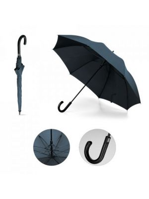 Paraguas clásicos silvan stripe de plástico con logo vista 5