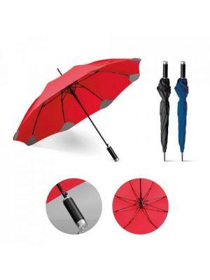 Paraguas clásicos pula de plástico con publicidad vista 8