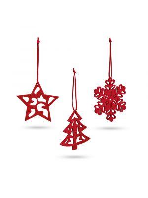 Navidad dario. set de 3 adornos de navidad de fieltro para personalizar vista 3