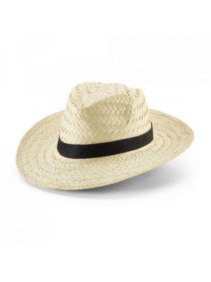 Sombreros edward de paja con impresión vista 1