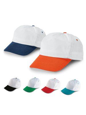 Gorras serigrafiadas stefano de poliéster vista 1