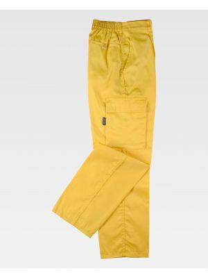 Pantalones de trabajo workteam b1403 de poliéster vista 2