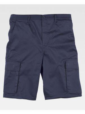 Pantalones de trabajo workteam básicos 2 bolsillos de poliéster para personalizar vista 1