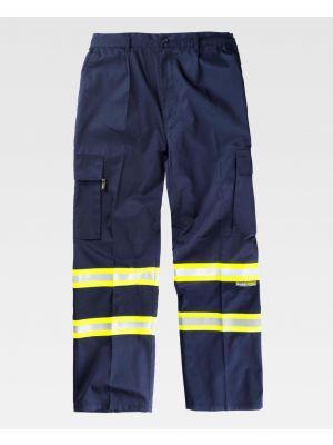 Pantalones reflectantes workteam recto fluorescentes de poliéster imagen 1