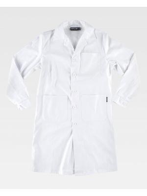 Batas sanitarias workteam b6111 de 100% algodón imagen 2