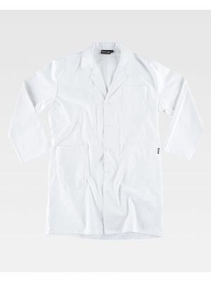 Batas sanitarias workteam b7111 de 100% algodón para personalizar vista 2