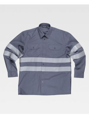 Camisas reflectantes workteam ml cintas reflectantes de poliéster imagen 1