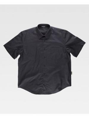 Camisas de trabajo workteam manga corta cuello clasico de poliéster para personalizar vista 1
