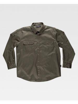 Camisas de trabajo workteam sport algodon para personalizar vista 1
