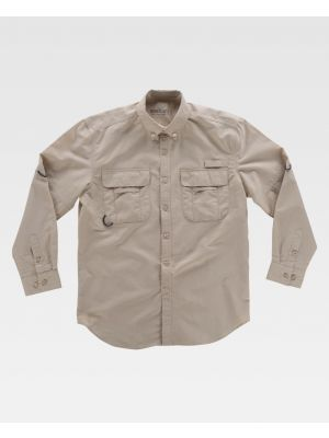 Camisas de trabajo workteam safari aberturas para personalizar vista 1
