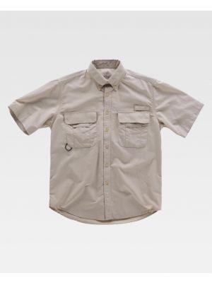 Camisas de trabajo workteam manga corta safari abertura vista 1
