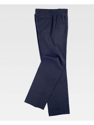 Pantalones de trabajo workteam b9014 de poliéster vista 2