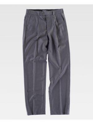 Pantalones de trabajo workteam b9015 de poliéster para personalizar vista 2