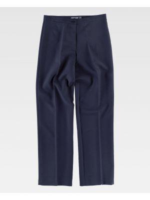 Pantalones de trabajo workteam b9016 de poliéster vista 2