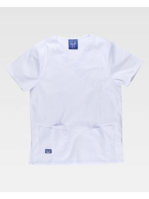 Casacas sanitarias workteam b9150 de algodon para personalizar vista 2